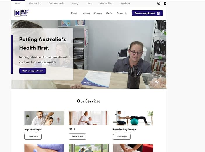 Rebrand of Health First Group Website